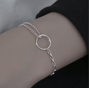 Womens Ladies 925 Sterling Silver Adjustable Chain Bracelet Jewellery Love Gifts