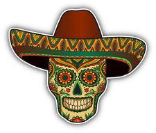 "Mexican Skull Pattern Car Bumper Sticker Decal 5"" x 4"""