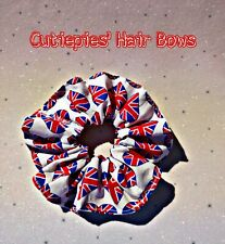 Hair scrunchie bobble elastic union jack fashion
