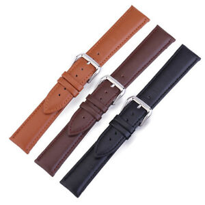 IC- Universal 18/20/22/24mm Faux Leather Watch Band Strap for Samsung Huawei Sur