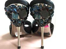 Miu Miu by Prada CALZATURE DONNA Satin Black NERO Sandal size 37 New with box