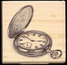 Inkadinkado rubber stamp Pocket Watch wood mounted, Time, Masculine