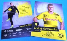 Andrey Yarmolenko + Autogrammkarte 2017/2018 + Borussia Dortmund + AK201854 +