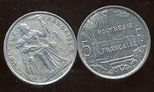 POLYNESIE francaise 5 francs 1990