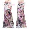 Rose Floral Pink Comfy Sublimation Maxi Long Skirt (S/M/L/XL/1XL/2XL/3XL)