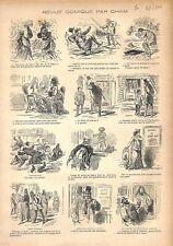 Sénateurs Sénat Patins Glace Skating Club Opéra Odéon Paris de Cham GRAVURE 1876
