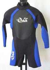 Long Arm Short Leg Wetsuit for Men, 2mm Back Zip, S014 Size M, Blue/Black