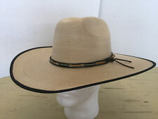 Vintage Atwood Hat New Rare 1970 s Wide Brim Palm straw Western Cowboy 7 1 8 ae5e40794561