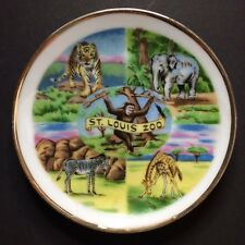 Vintage Victoria Ceramics St. Louis Zoo Decorative Collectible Souvenir Plate 4""