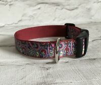 Dog Collar Paisley Pattern Style 2 Unique Funky Pet Supply Gift Handmade