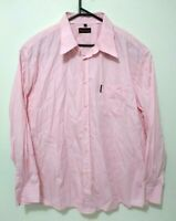 Ben Sherman Mens Shirt Size 2XL Light Pink Long Sleeve Button Up 100% Cotton