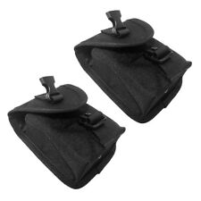 2x Spare Nylon Scuba Dive Weight Belt Pocket with Quick Release Buckle Black