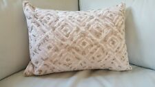 "Oake Beaded embroidered Illusion Decorative pillow 14""x20"" - NEW"