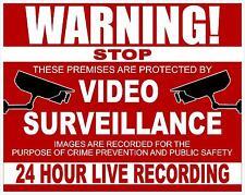 "4""x5"" CCTV 24 HOUR SURVEILLANCE  WARNING DECAL- Security Camera Recording Sign"