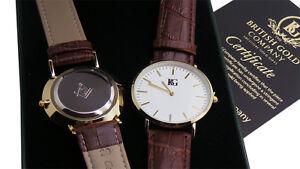 Masonic Personalised Gents Genuine Leather Watch FREE Custom Engraving Freemason