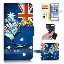 ( For iPod Touch 6 ) Wallet Flip Case Cover AJ40333 Australia Flag