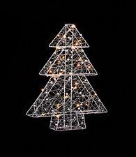 Illuminated Warm White Light Metal Wire Christmas Xmas Tree Window Decoration