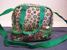 VINTAGE  SMILEY FACE SOFT ZIPPERED LUNCH PAIL W/ SANDWICH COMPARTMENT IN BOTTOM