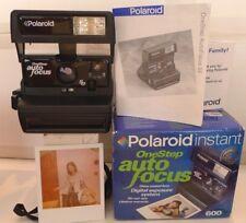 Polaroid 600 One Step AutoFocus SE Instant Film Camera +Box & Manual -TESTED