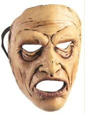 Wow Man Frontal Face Mask Scary Old In Pain Halloween Adult Costume Accessory