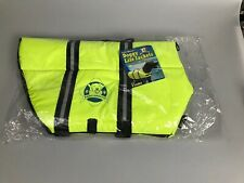 Paws Aboard Neoprene Doggy Life Jacket XL-Black & Yellow