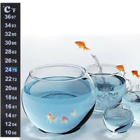 Digital Dual Scale Aquarium Fish Tank Thermometer Temperature Sticker XJ