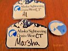 LOT vintage  CRUISE SHIP - NAME TAGS AND LOGO PIN BACK- CRUISE WEST