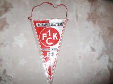 """1.FC Kaiserslautern Original 70iger Jahre Wimpel """"1 FCK Wappen"""" + """"Erfolge"""" Neu"""