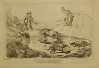 1825 Henry Alken Caccia Stampa ~ Corsa Un Tasso A Bay