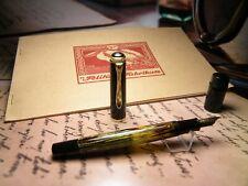 "Vintage ""Pelikan 400"" Fountain Pen-Pearl Tortoiseshell-14K Nib-Germany 1950s"