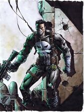 Punisher Watercolor Painting by Johnny Desjardins 9 x 12 JohnnyD