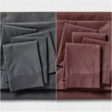 New Threshold Signature 800 Thread Count King Sheet Set 100% Cotton Sateen $80