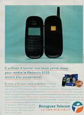 Publicité 1999  Bouygues Telecom Téléphone Motorola B320  le son digital HR