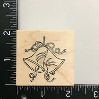 Northwoods Wedding Bells Wood Mounted Rubber Stamp Marriage Bridal Shower