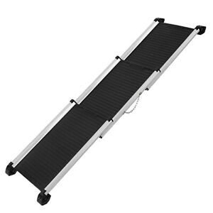 Deluxe Aluminium Retractable Lightweight Pet Ramp for pets up to 120kg - Extends