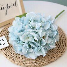 Blue -Artificial Flowers Silk Hydrangea Bouquet For Wedding Decor