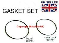 Bezel + Caseback Gasket Set For Seiko 7002-7000, 7002-7001, 7002-7009, 7002-700J