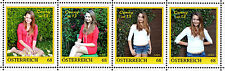 U) Personalized strip of 4 stamps girl´s birthday CONNY is 13 AUSTRIA 2015