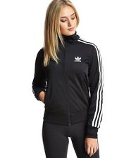 100% Original Adidas Originals Firebird Track Top-mujer-negro-UK Size 6