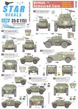 Star Decals 1/35 BRITISH ARMORED CARS Staghound Humber & M3 White SC