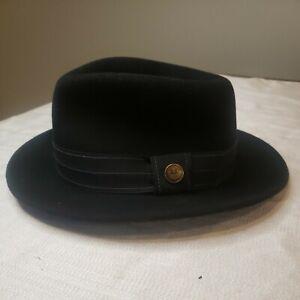 GOORIN BROTHERS Good Boy Trilby Fedora Warm Hat Bros 100/% Wool Black