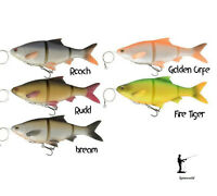 Savage Gear 4D Line Thru Pulse Tail Roach Lures Pike Zander Catfish Fishing