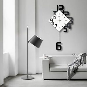 Nordic Style Swing Wall Clock Modern Design Living Room Home Decor Silent Watch