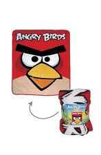 """NEW Angry Birds Micro Fleece 50"""" X 60"""" - Large 4 Ft x 5 Ft Full Blanket Red"""