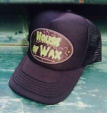 House of Wax Black Mesh Snapback Trucker Cap Pomade Hot Rod Biker Custom Metal