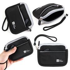 Black Water-Resistant Neoprene Travel Case / Cover for LG Action Cam LTE