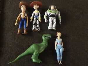 Toy Story Figures X 5 2017-2018 Buzz, Woody, Bo Peep, Rex, Jessie Mattel Disney