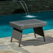 SOLD OUT EVERYWHERE!~OUTDOOR WICKER FOLDING TABLE~CHRISTOPHER KNIGHT~NEW IN BOX