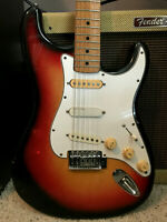 1970 HOHNER Stratocaster Style Electric Guitar - Relic Sunburst - Made In Japan