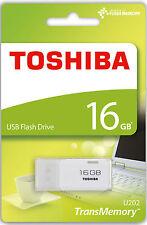 Toshiba 16GB USB 2.0 Flash Stick Pen Memory Drive - White